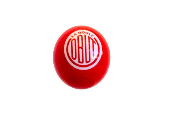Zielkugel Rot mit OBUT-Vintage-Loge