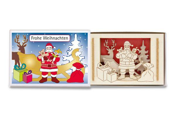 Miniature-Silhouette Weihnachtsmann