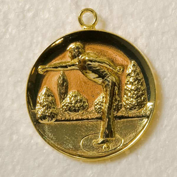 "Medaille 5cm ""Petanque"" mit Band"