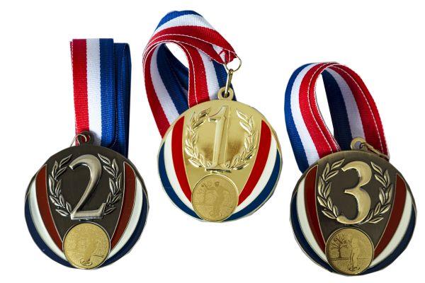 Medaillen 1-2-3 France 70mm