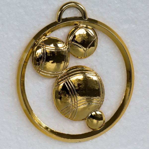 "Medaille 8cm ""Boules"" mit Band"