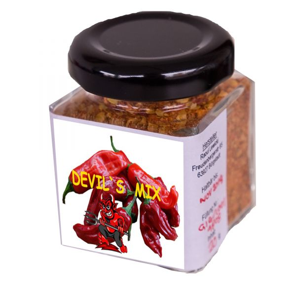 "Gemahlen Chili ""Devil's Mix"" in Glas"