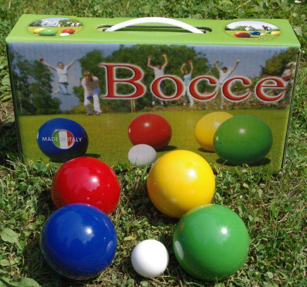 BOCCIA Freizeit Set 4x2 Holzkugeln 110mm
