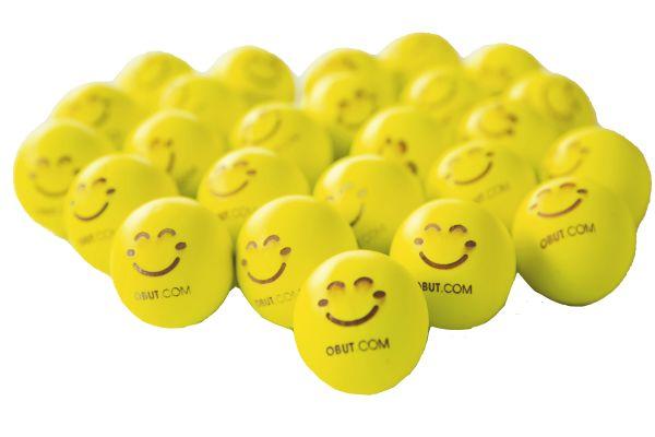 OBUT 25 Zielkugeln (fluoreszierend Gelb)