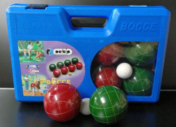 Wettkampf-Boccia-Set mit 8 Kunnststoffkugeln