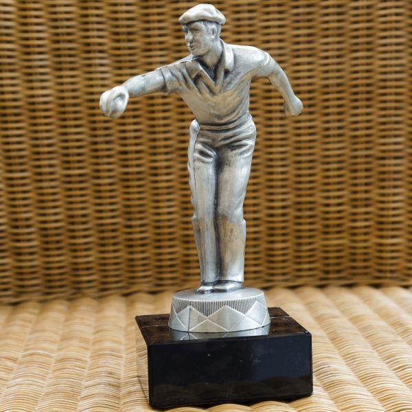 Pokal Petanque - Matt Silber 25cm