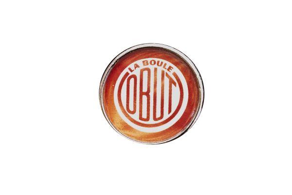 OBUT Pin mit Vintage-OBUT Logo von 1955
