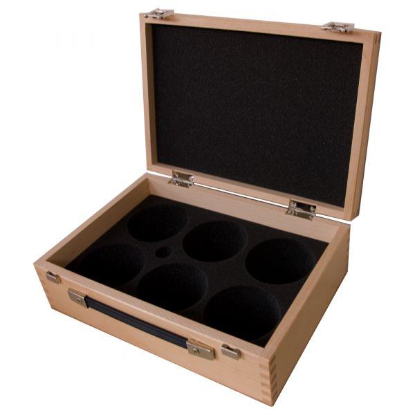 Holzkoffer für 6 Kugeln