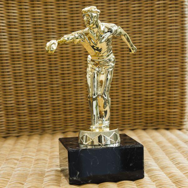 Pokal Petanque - Glanz Gold 25cm